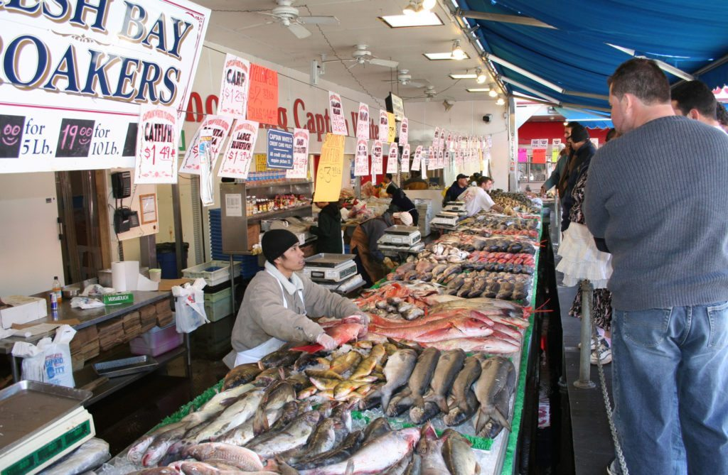 If you live in a coast cities, fish markets - like Maine Avenue Fish Market in Washington D.C., pictured - fresh fish should be available all week long. (Wikipedia.org)