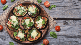 Grilled Mini Eggplant Pizzas