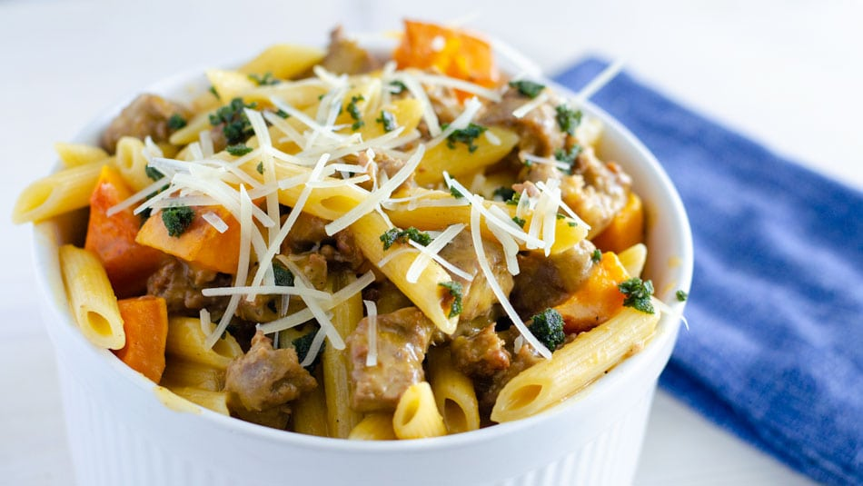 Creamy Butternut Squash Pasta with Sausage